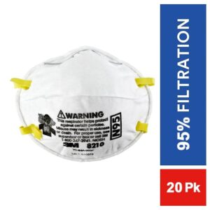 3M 8210 N95 Particulate Respirator Mask - 20pc